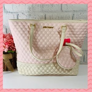 🎉HP🎉 Betsey Johnson 2 in 1 Tote Be Mine Blush